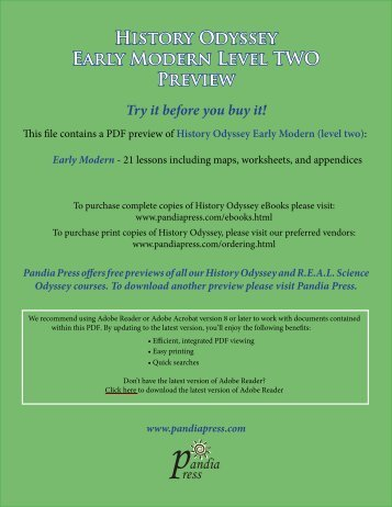 History Odyssey - Early Modern (level two) eBook ... - Pandia Press