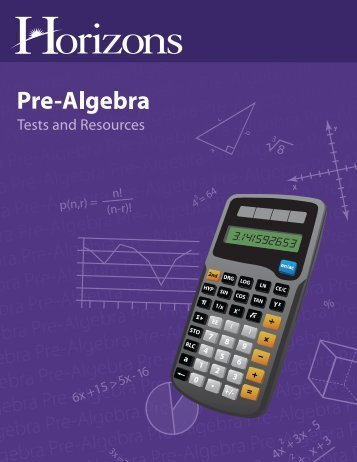 Download a Pre-Algebra Tests & Resources Sample - Rainbow ...
