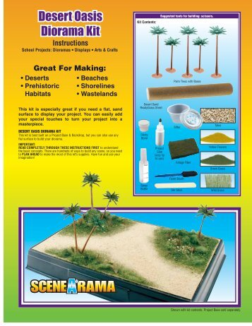 Mountain Diorama Kit - Rainbow Resource Center Rainbow Resource Center