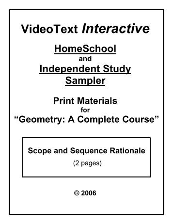 Scope and Sequence for Connecting Math Concepts Level C