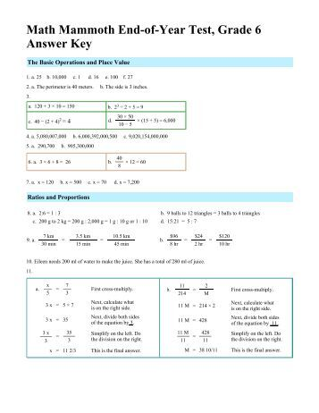 how to find answer keys for math tests
