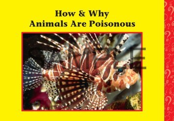 Download a PDF Sample of Animals are Poisonous - Rainbow ...