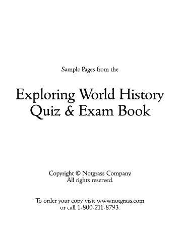 Exploring World History Quiz & Exam Book - Rainbow Resource ...