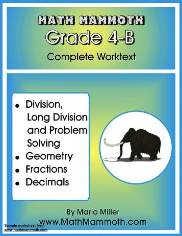 Download a PDF sample of Grade 4-B - Rainbow Resource Center