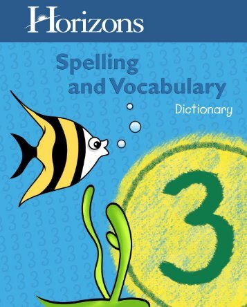 Download a Grade 3 Spelling Dictionary Sample - Rainbow ...