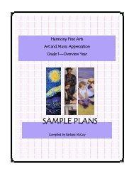 SAMPLE PLANS - Rainbow Resource Center