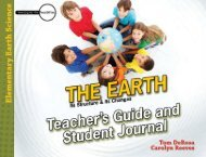 Download a PDF Sample of Earth, Teacher's Guide - Rainbow ...
