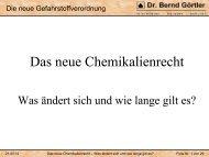 Das neue Chemikalienrecht – Was ändert sich und wie