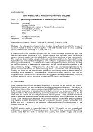 Operational guidance and skill in forecasting structur - RAMMB ...