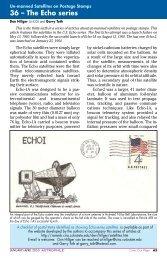 Un-manned satellites on postage stamps 36 - RAMMB