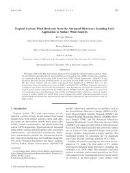 Tropical Cyclone Wind Retrievals from the Advanced Microwave ...