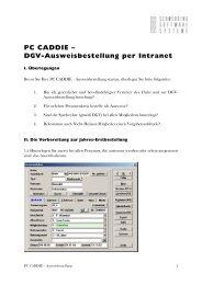 PC CADDIE – DGV-Ausweisbestellung per Intranet