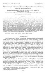 Adjoint sensitivity analysis of an observational operator for visible ...