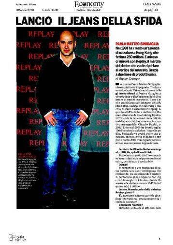 Intervista a Matteo Sinigaglia - Lancio il jeans della sfida