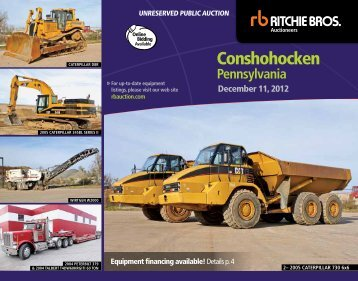 conshohocken - Ritchie Bros. Auctioneers