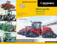 Minneapolis - Ritchie Bros. Auctioneers