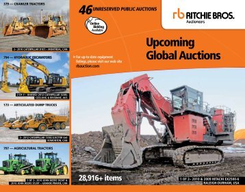 Upcoming Global Auctions - Ritchie Bros. Auctioneers