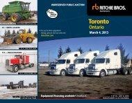 Toronto - Ritchie Bros. Auctioneers