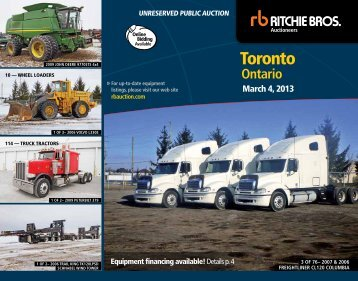 Toronto - Ritchie Bros. Auctioneers
