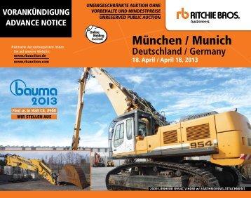 München / Munich - Ritchie Bros. Auctioneers