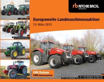 Europaweite Landmaschinenauktion - Ritchie Bros. Auctioneers