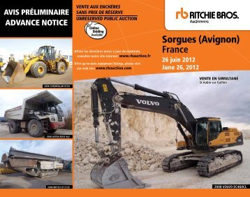 Sorgues (Avignon) - Ritchie Bros. Auctioneers