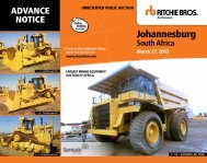 Johannesburg - Ritchie Bros. Auctioneers
