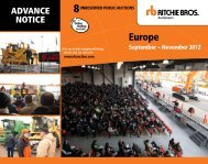 europe - Ritchie Bros. Auctioneers