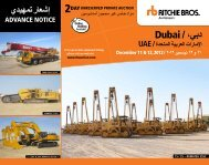 dubai/ ،ﻲﺑد - Ritchie Bros. Auctioneers