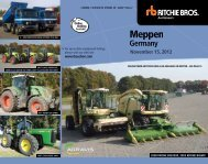 For up-to-date equipment listings - Ritchie Bros. Auctioneers