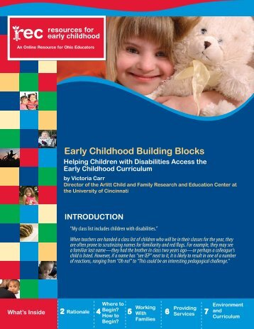 Early Childhood Building Blocks Helping Children with Disabilities ...