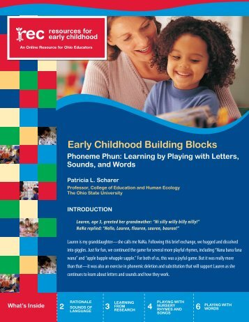 Early Childhood Building Blocks - Resources for Early Childhood