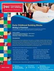 Writing in Preschool - Resources for Early Childhood