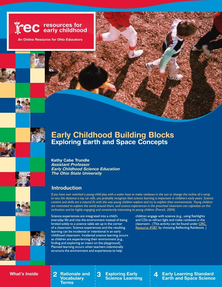 exploring early childhood children and Exploration and discovery creating an enthusiastic  as children explore  for both the teacher and the child, early childhood educators often use.