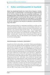 5 Kultur und Kulturpolitik im Saarland - Arbeitskammer des Saarlandes