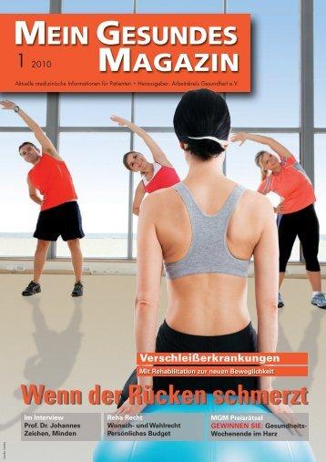 Mein Gesundes Magazin 01 2010 - Arbeitskreis Gesundheit eV