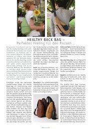 HEALTHY BACK BAG – Perfektes Feeling für den Rücken… - Relaxed