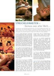 STREICHELEINHEITEN – Genuss aus aller Welt... - Relaxed