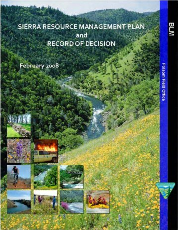 Sierra Resource Management Plan and Record of Decision