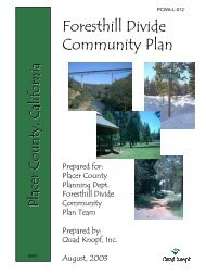 Foresthill Divide Community Plan - PCWA Middle Fork American ...