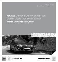 Renault laguna & laguna gRandtouR laguna gRandtouR Bose ...