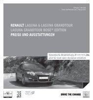edition preise und ausstattungen - Renault Preislisten