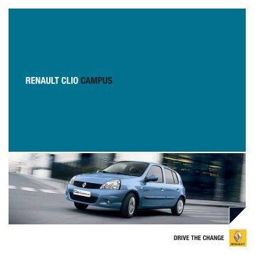 RENAULT CLIO CAMPUS - Renault Preislisten