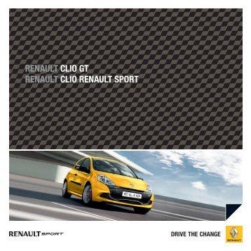 renault clio gt renault clio renault sport - Renault Preislisten