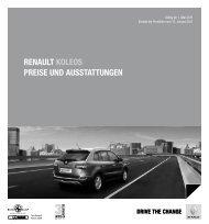 Renault Koleos PReise und ausstattungen - Renault Preislisten