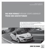 Das neue Renault mégane COuPé-CaBRIOlet PReIse unD ...