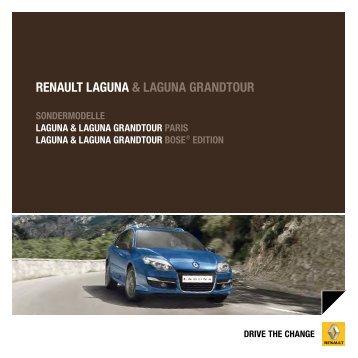 RENAULT LAgUNA & LAgUNA gRANdToUR - Renault Preislisten