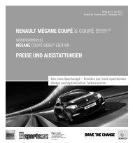 Mégane Coupé & Coupé Renault Sport(2,4 MB) - Renault Preislisten