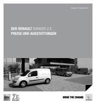 Der renault Kangoo Ze Preise unD ausstattungen - Renault Preislisten