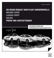 Die NeueN ReNault Night & Day SoNDeRmoDelle mégaNe Coupé ...
